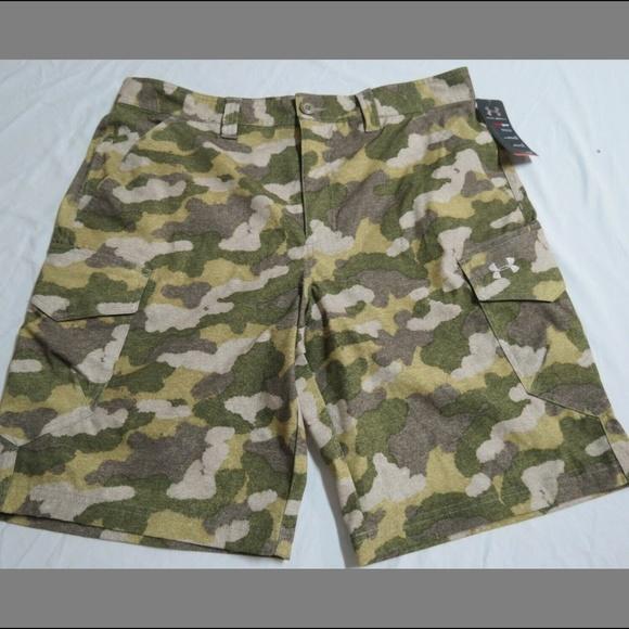 UNDER ARMOUR Men/'s UA Fish Hunter Cargo Shorts NWT Ua Barren Camo SIZE 32